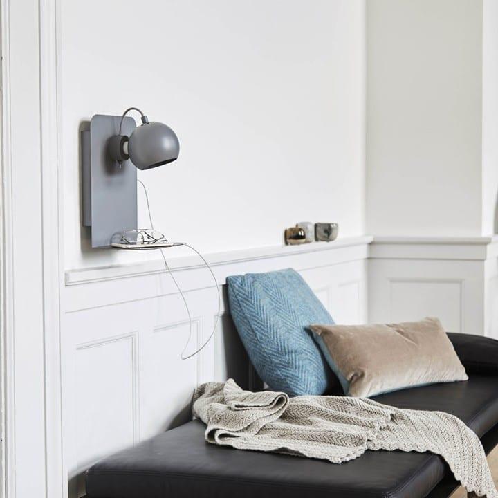lampa stołowe matowe szary ball USB Frandsen inspiracja