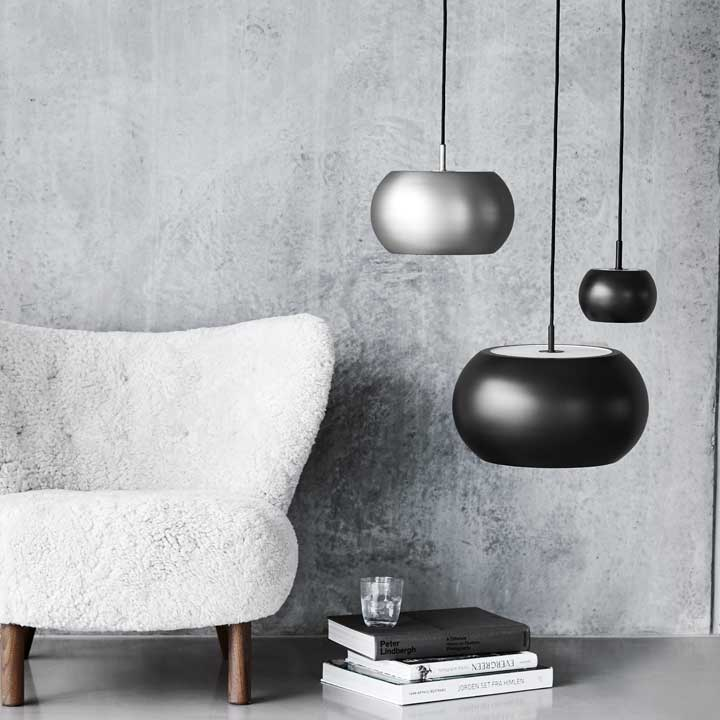BF20 pendants 3 sizes black + satin lifestyle FRANDSEN