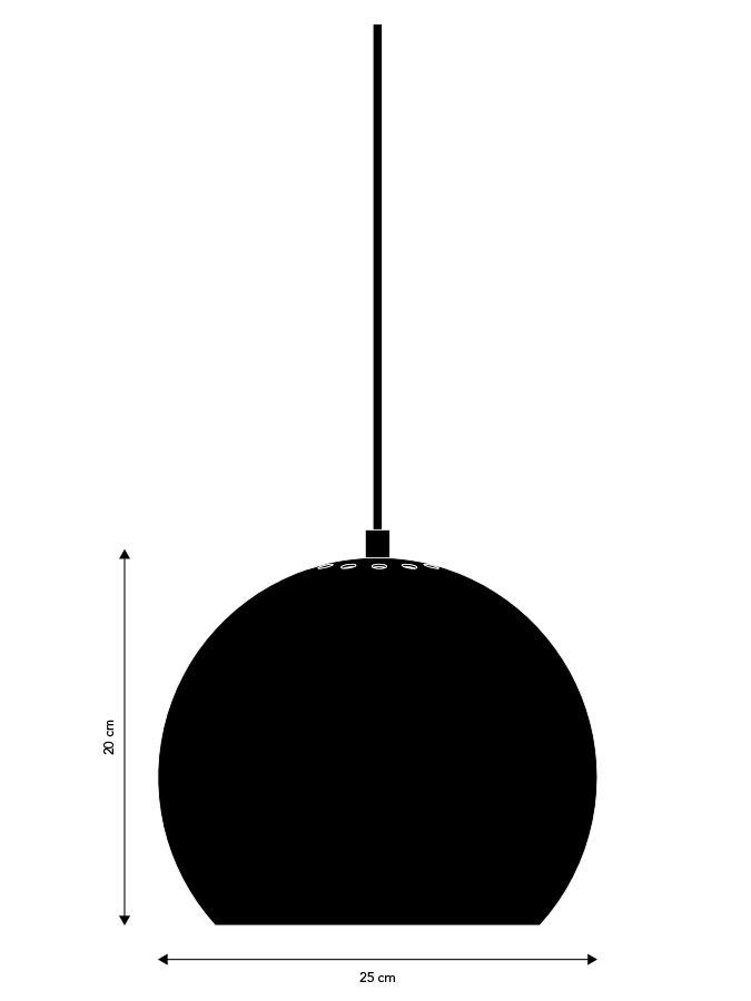 Lampa wisząca Ball 25cm Frandsen