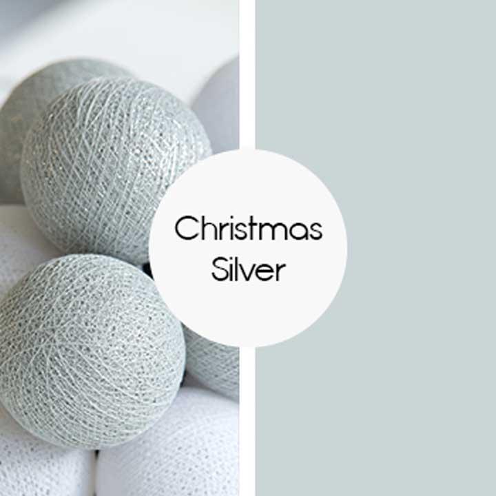 Kulki Christmas Silver Happy Lights
