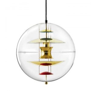 Lampa wisząca Globe mosiądz Verner Panton
